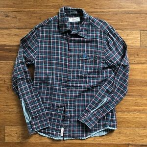 Men's Penguin Long Sleeve Plaid Shirt